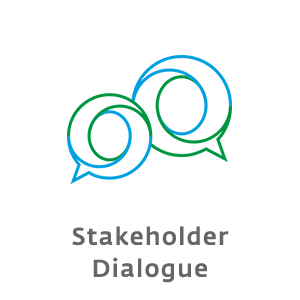 How do you initiate and organize the dialogue with your stakeholders?